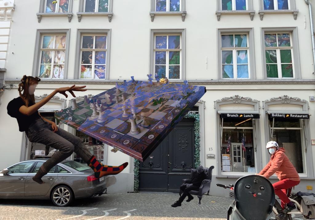 Augmented Reality Wandering Windows Façade